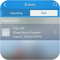 Events Listing Feature